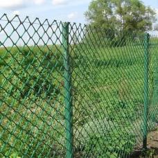 """Забор """"Сетка -Рабица""""  Зеленая. 1.5 м."""