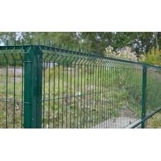 """Забор из Сетки """"Гиттер Зеленой. Полимерное покрытие. 2 м."""