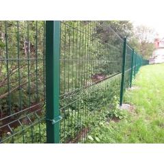 Забор из сетки Гиттер Зеленой. Полимерное покрытие.