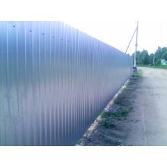 Забор из Профлиста Эконом. Оцинкованный .