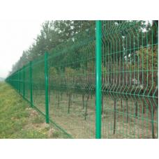 """Забор из Сетки """"Гиттер Зеленой. Полимерное покрытие. 1.5 м."""