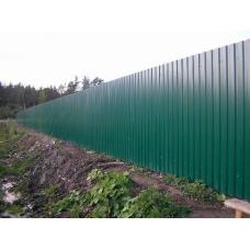 Забор из профлиста  Оптима. Цветной. 2 метра.