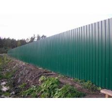 Забор из профлиста  Оптима. Цветной. 1.5 метра.