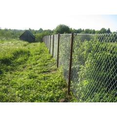 "Забор ""Сетка-Рабица""  Зеленая."