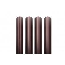 Штакетник круглый фигурный металлический   / RAL 8017