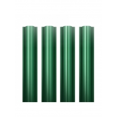Штакетник круглый металлический  / RAL 6005