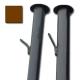 Столбы с усами (грунт) d.45 / 1.5 мм / h - 2,3 м