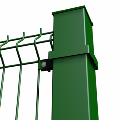 Столбы профильные для сетки сварной и секций 3D