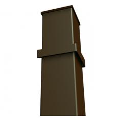 Столбы профильные (грунт) с лагами 40х40 / 1.5 мм / h - 2.4 м