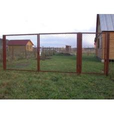 Ворота из сетки рабицы .
