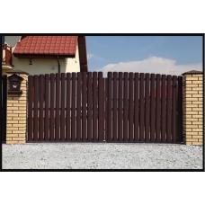 Ворота из металлического штакетника .